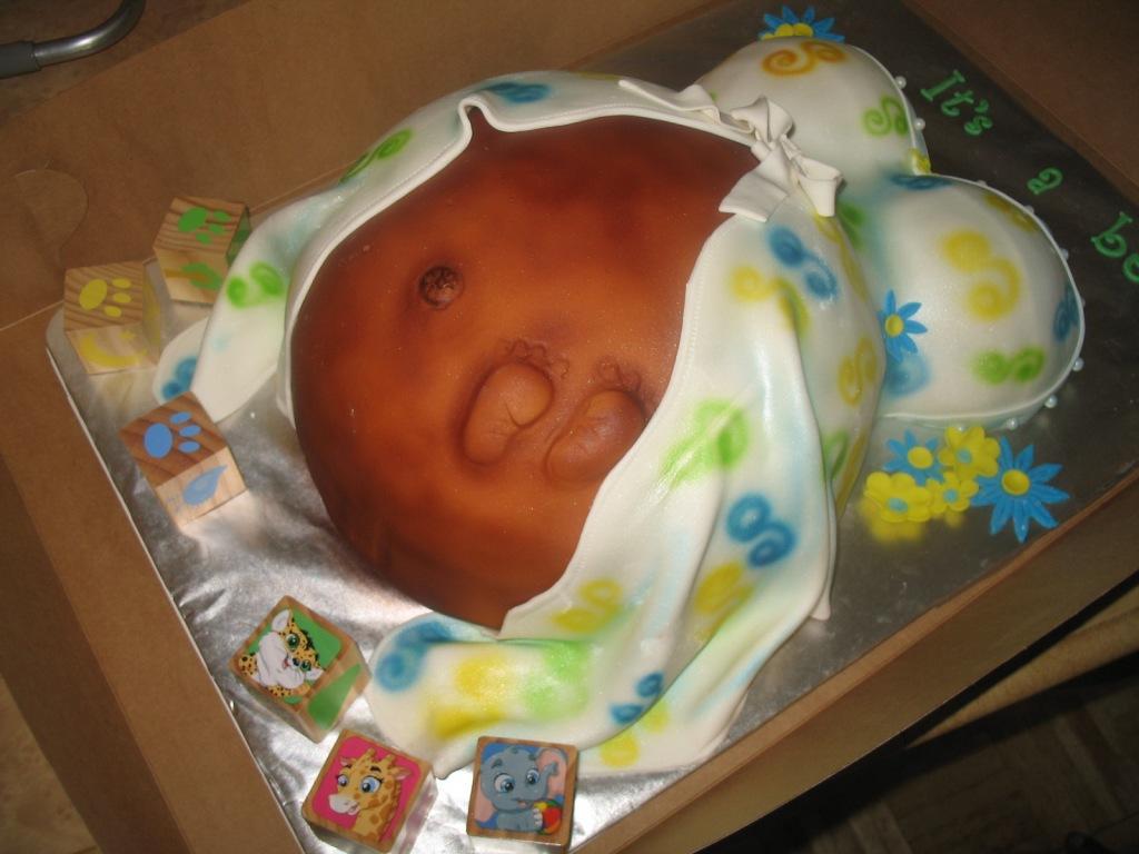 Торт с полом ребенка своими руками 68